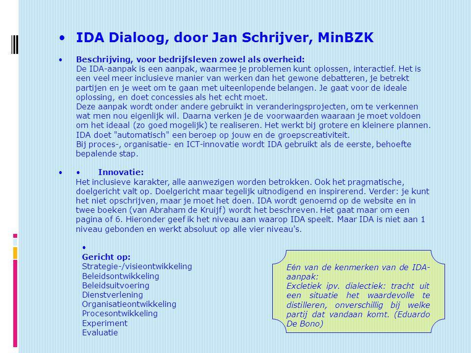 IDA Dialoog, door Jan Schrijver, MinBZK
