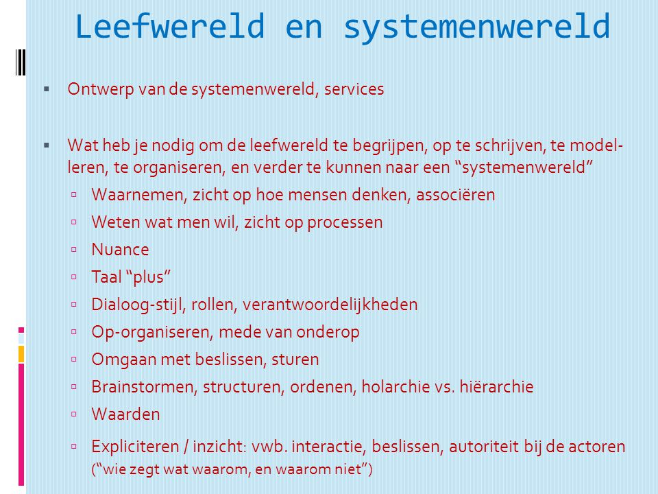 Leefwereld en systemenwereld