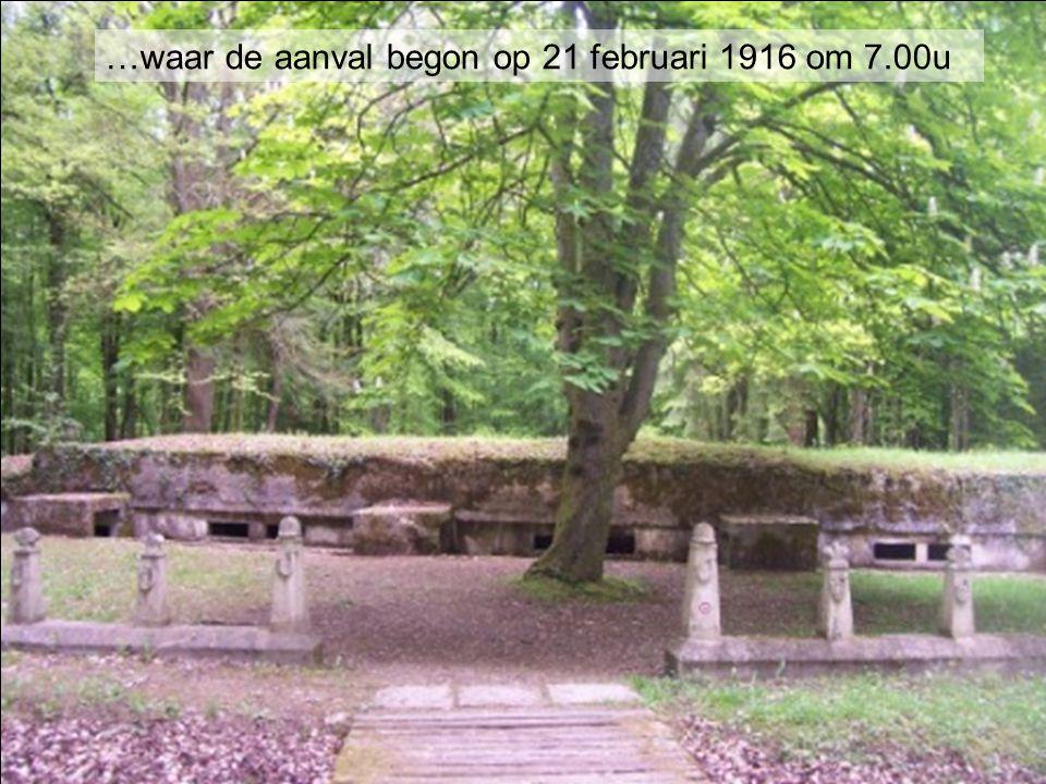 …waar de aanval begon op 21 februari 1916 om 7.00u