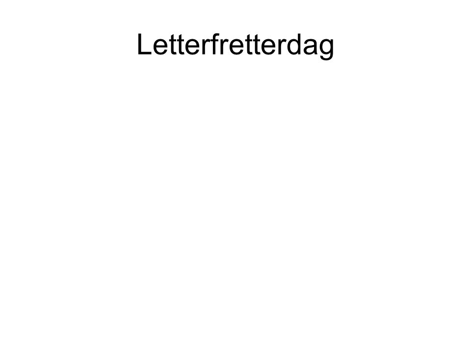 Letterfretterdag