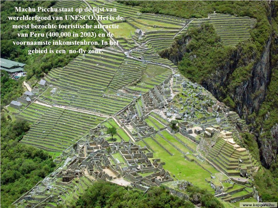 Machu Picchu staat op de lijst van werelderfgoed van UNESCO