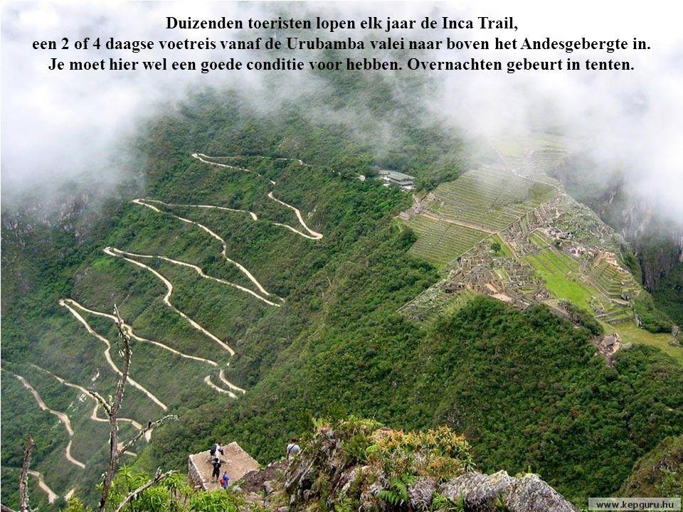 Duizenden toeristen lopen elk jaar de Inca Trail,