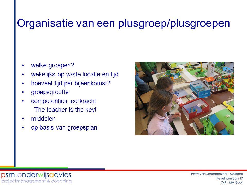 Organisatie van een plusgroep/plusgroepen