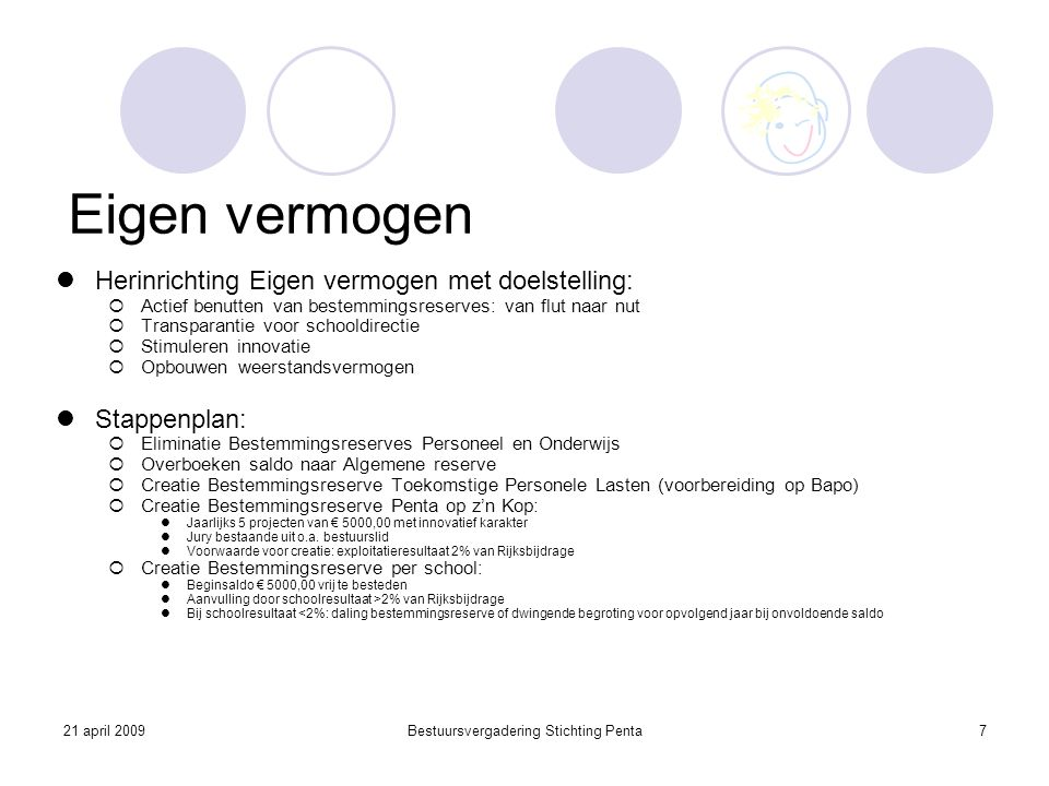 Bestuursvergadering Stichting Penta