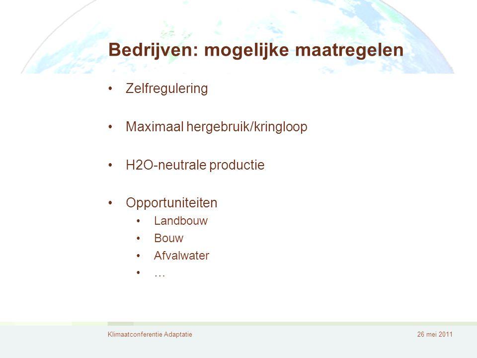 Bedrijven: mogelijke maatregelen