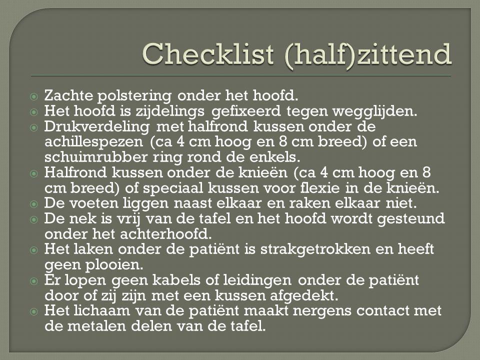 Checklist (half)zittend