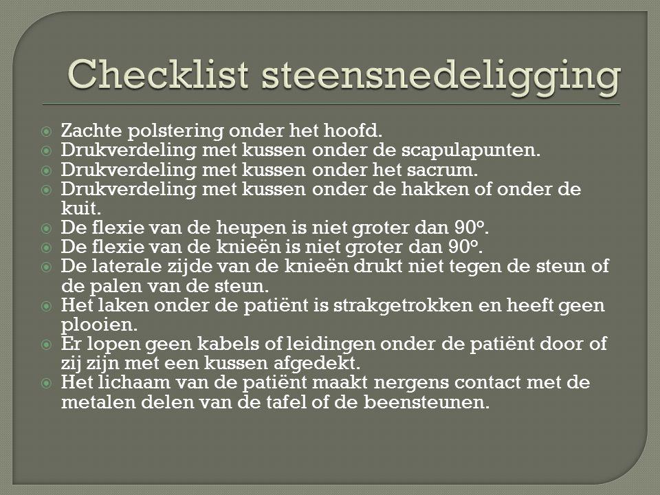 Checklist steensnedeligging