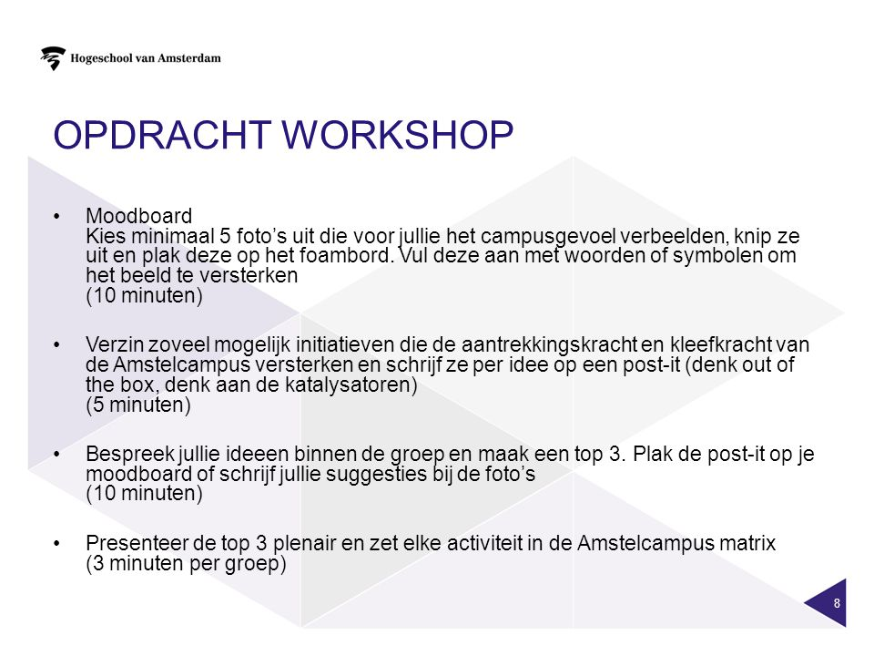 Opdracht workshop