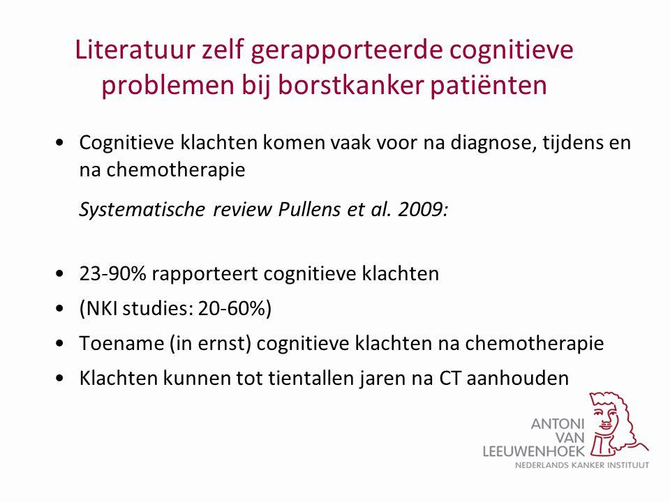 Literatuur zelf gerapporteerde cognitieve problemen bij borstkanker patiënten
