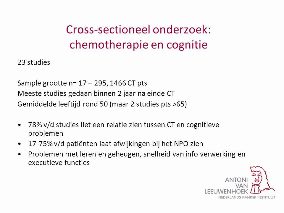 Cross-sectioneel onderzoek: chemotherapie en cognitie