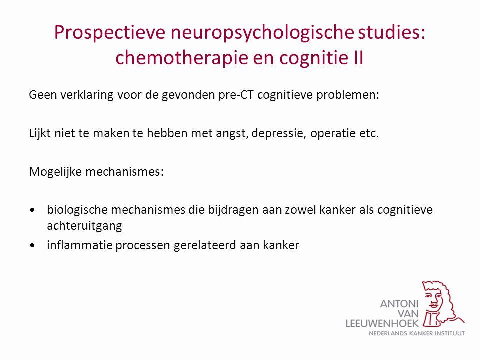 Prospectieve neuropsychologische studies: chemotherapie en cognitie II