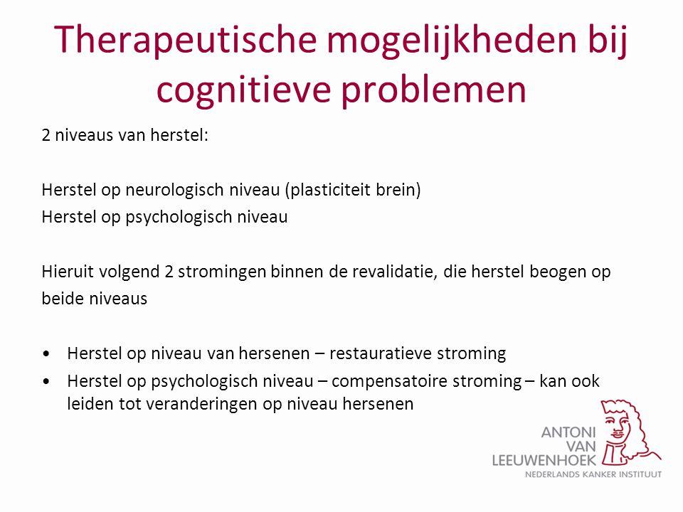 Therapeutische mogelijkheden bij cognitieve problemen