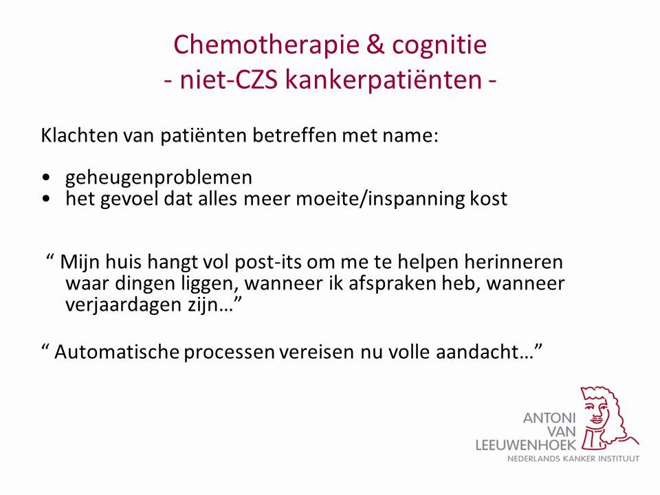 Chemotherapie & cognitie - niet-CZS kankerpatiënten -
