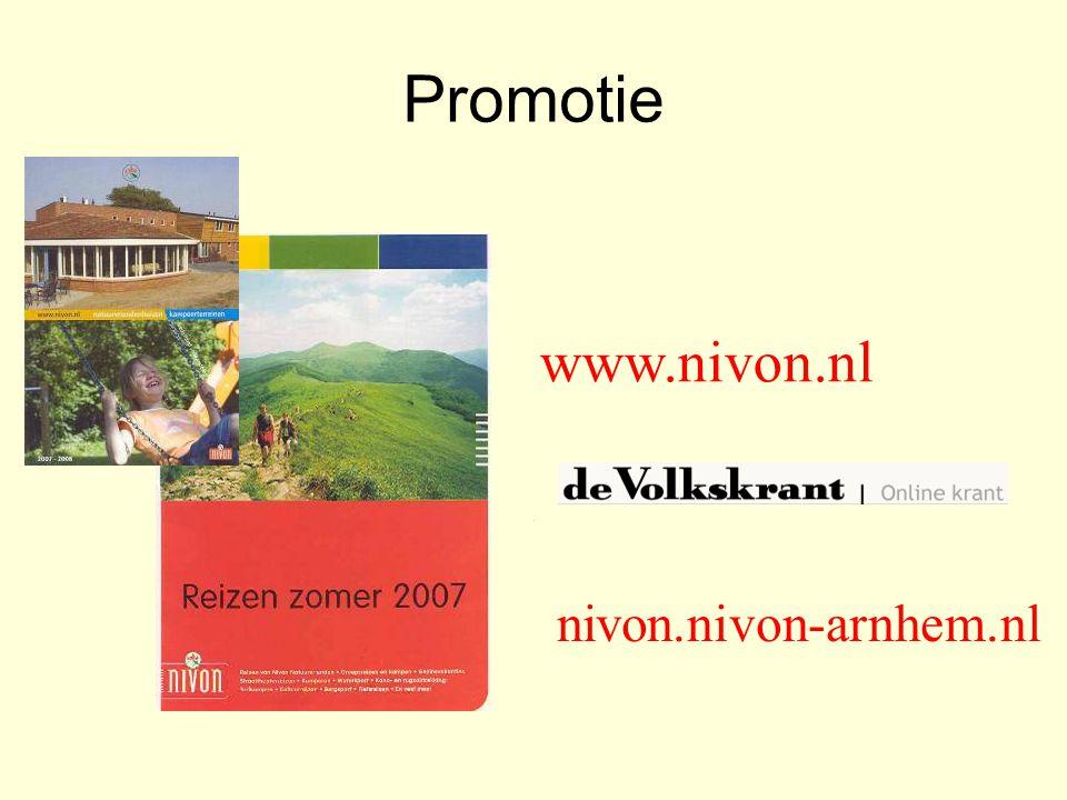 Promotie www.nivon.nl nivon.nivon-arnhem.nl