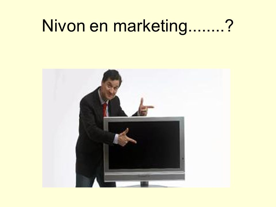 Nivon en marketing........