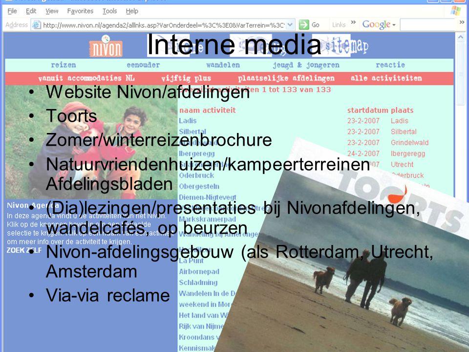 Interne media Website Nivon/afdelingen Toorts