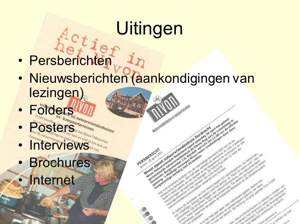 Uitingen Persberichten Nieuwsberichten (aankondigingen van lezingen)