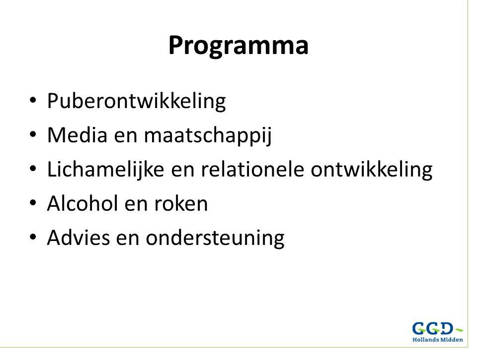 Programma Puberontwikkeling Media en maatschappij