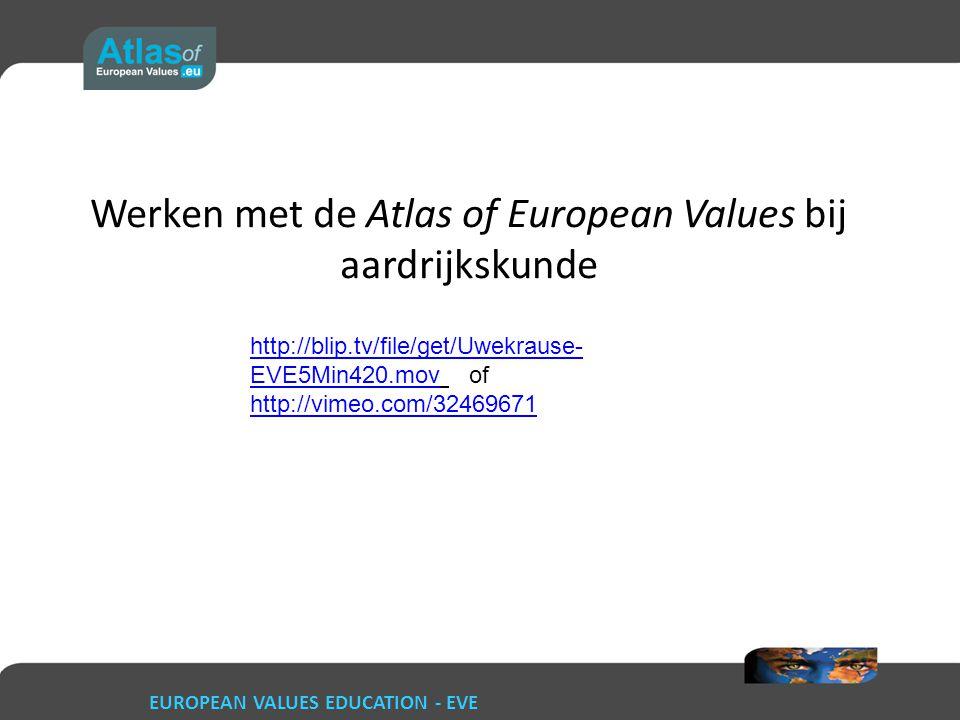 Werken met de Atlas of European Values bij aardrijkskunde
