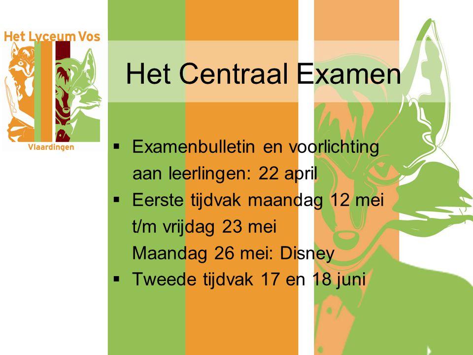 Het Centraal Examen Examenbulletin en voorlichting