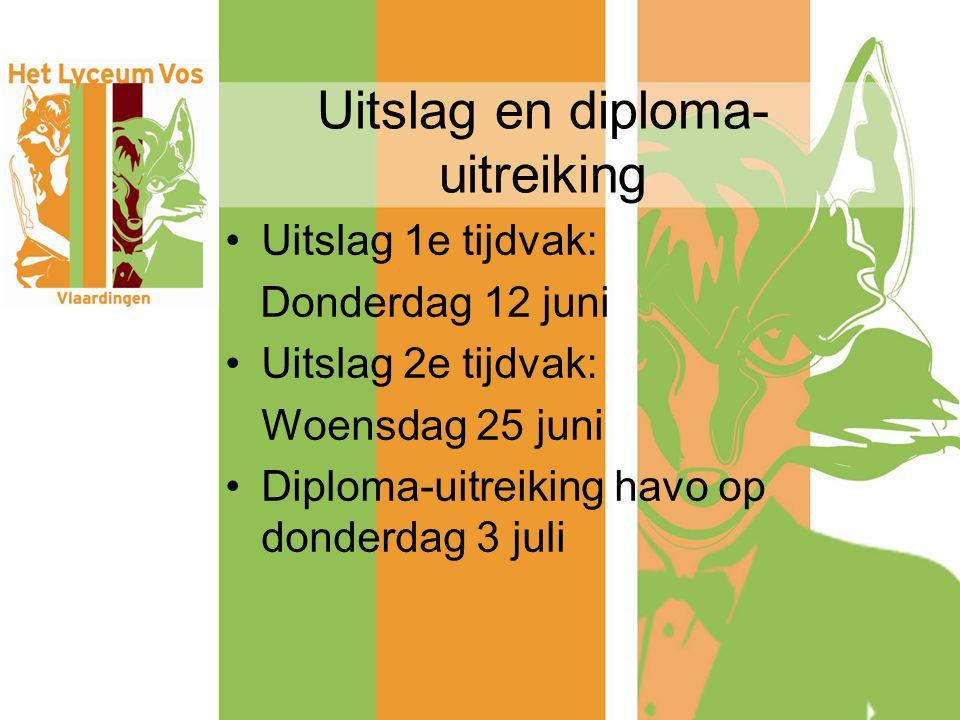 Uitslag en diploma-uitreiking