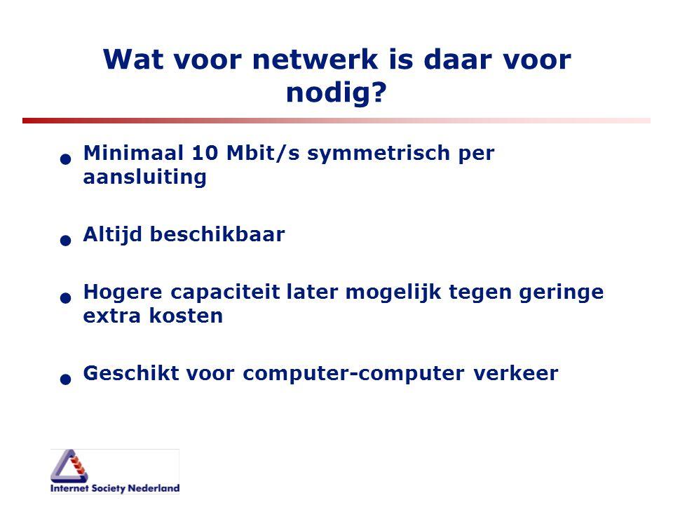 Wat voor netwerk is daar voor nodig