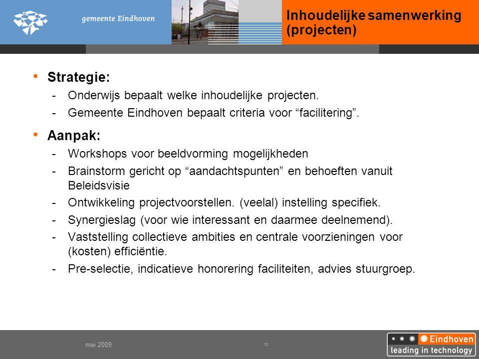 Inhoudelijke samenwerking (projecten)