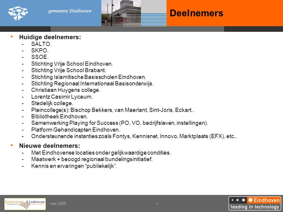 Deelnemers Huidige deelnemers: Nieuwe deelnemers: SALTO. SKPO. SSOE.