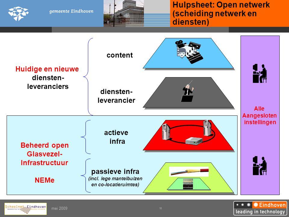 Hulpsheet: Open netwerk (scheiding netwerk en diensten)