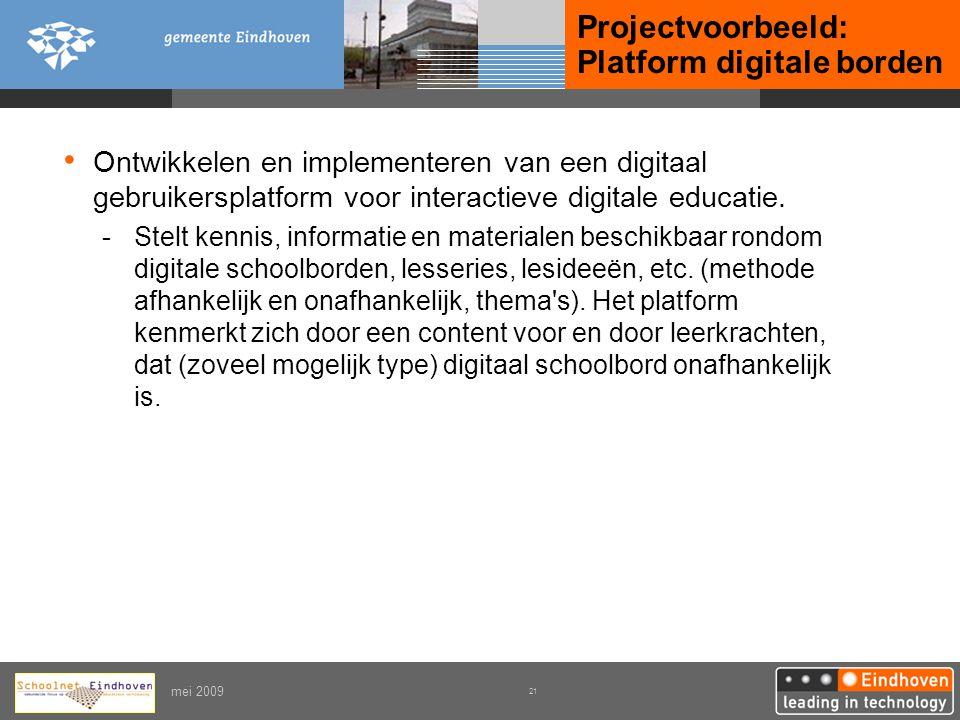 Projectvoorbeeld: Platform digitale borden