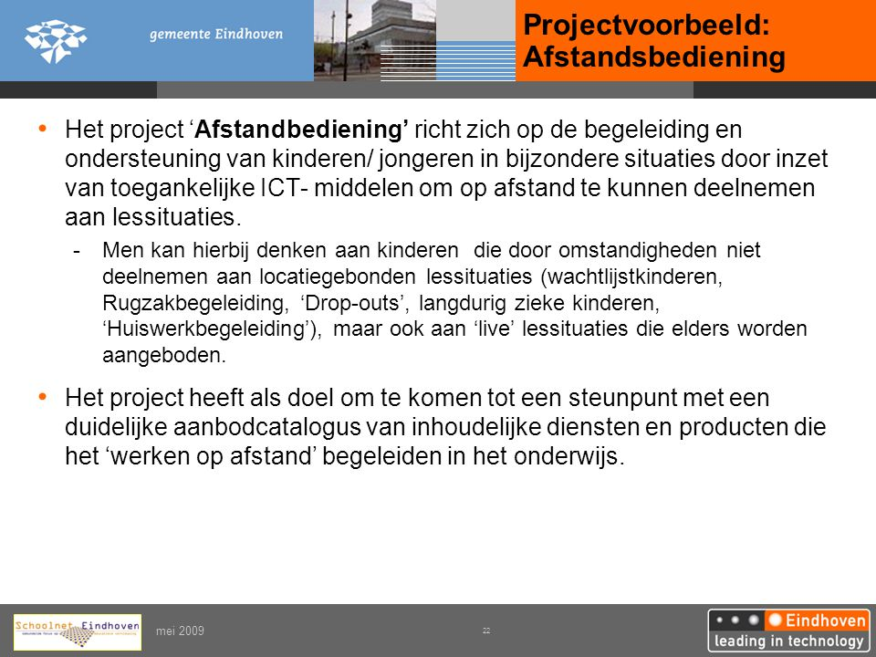 Projectvoorbeeld: Afstandsbediening
