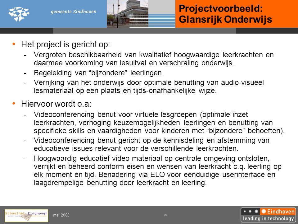 Projectvoorbeeld: Glansrijk Onderwijs