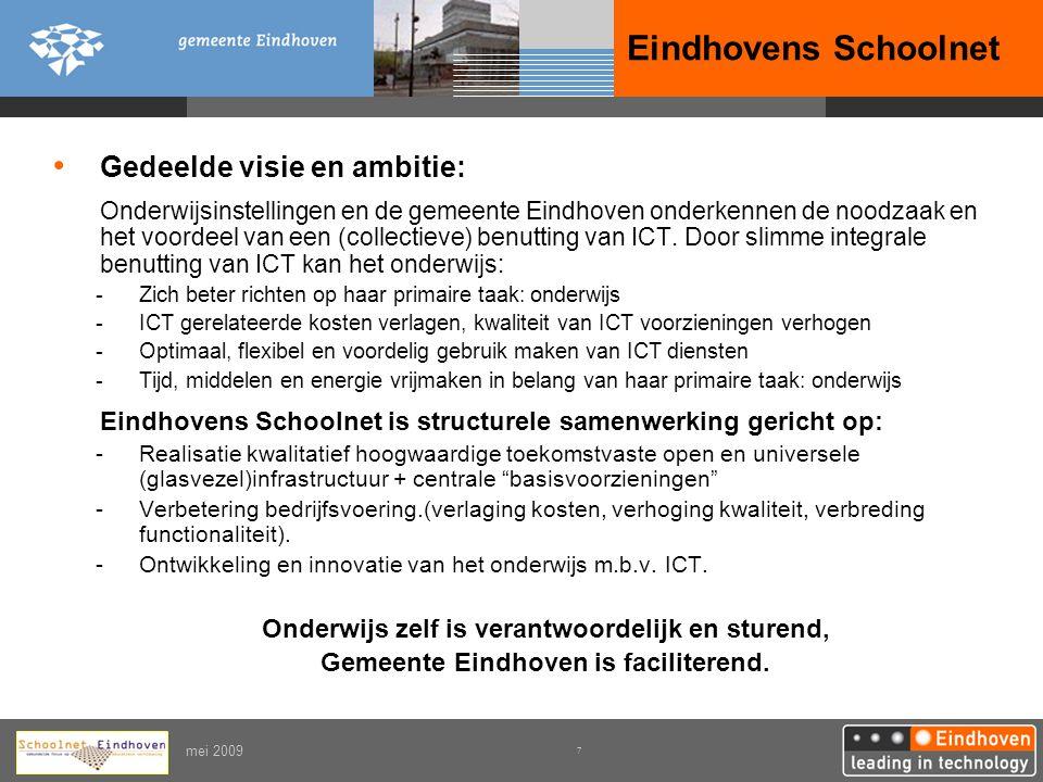 Eindhovens Schoolnet Gedeelde visie en ambitie: