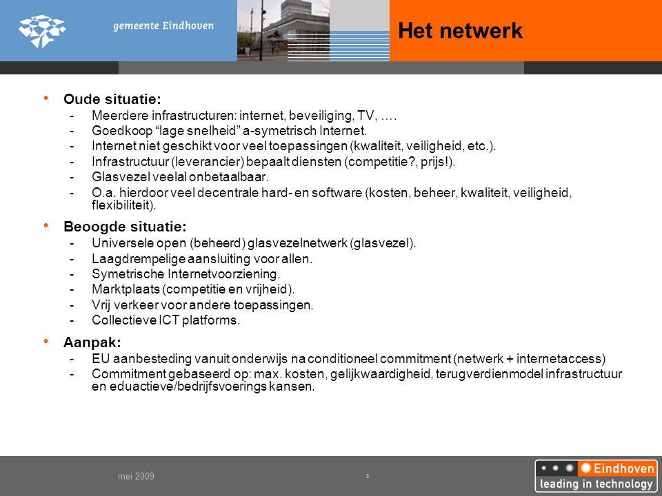 Het netwerk Oude situatie: Beoogde situatie: Aanpak: