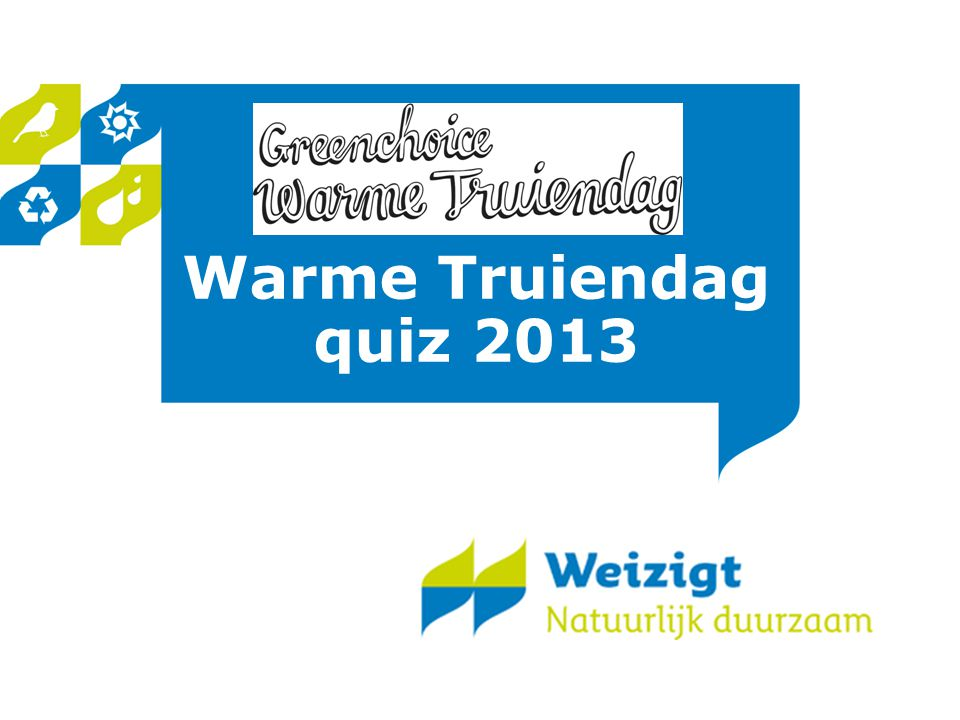 Warme Truiendag quiz 2013