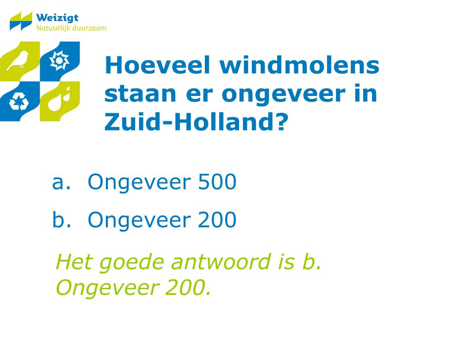 Hoeveel windmolens staan er ongeveer in Zuid-Holland