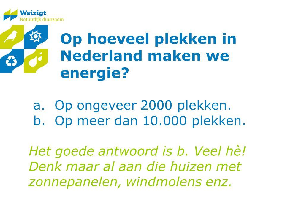 Op hoeveel plekken in Nederland maken we energie