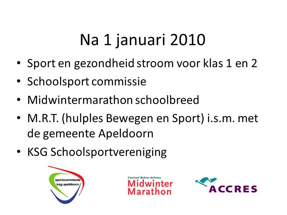 Na 1 januari 2010 Sport en gezondheid stroom voor klas 1 en 2