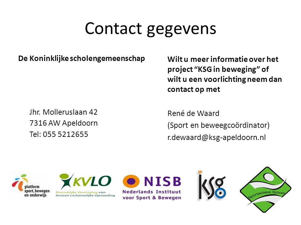 Contact gegevens De Koninklijke scholengemeenschap