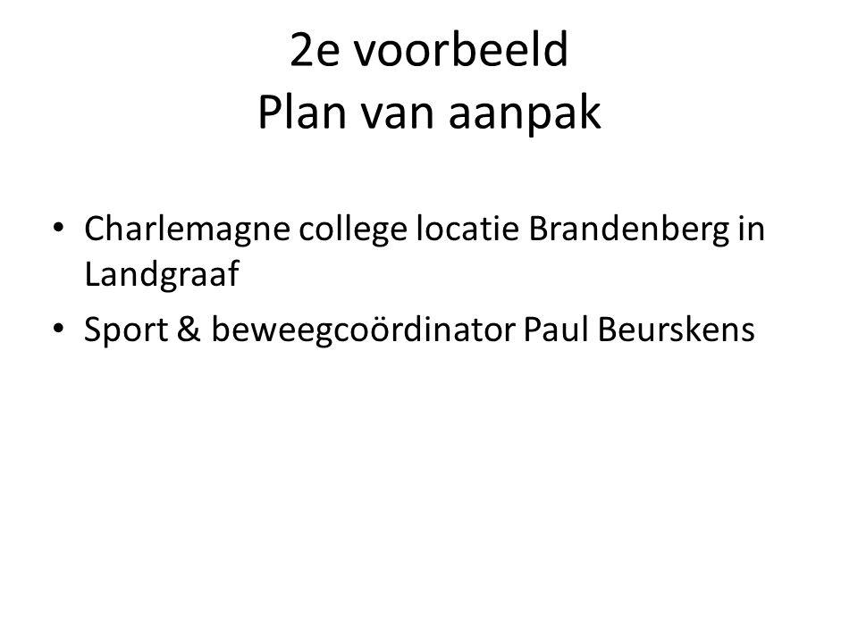 2e voorbeeld Plan van aanpak