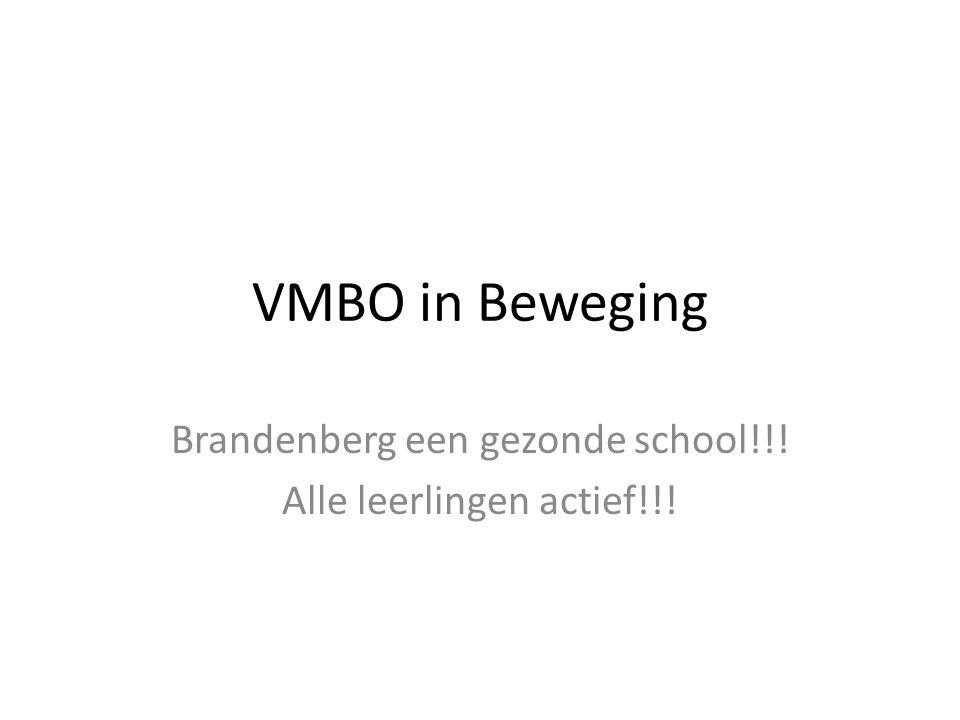 Brandenberg een gezonde school!!! Alle leerlingen actief!!!