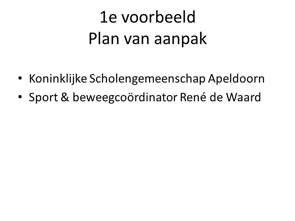 1e voorbeeld Plan van aanpak