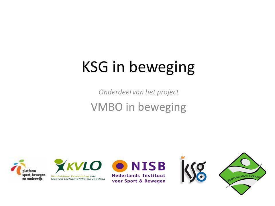 Onderdeel van het project VMBO in beweging
