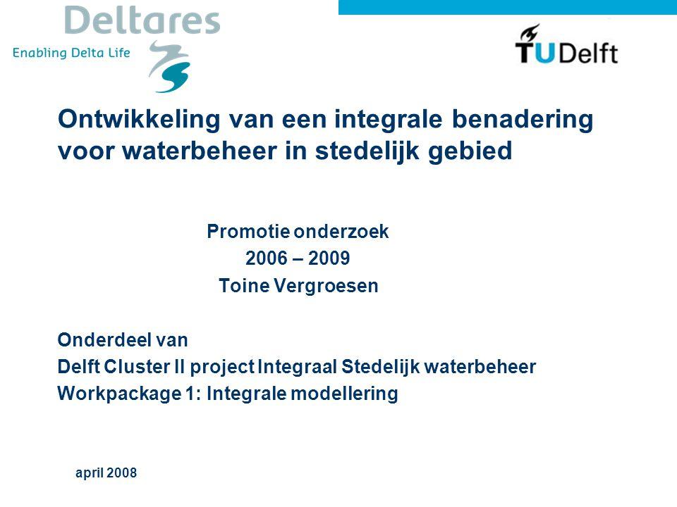 Ontwikkeling van een integrale benadering voor waterbeheer in stedelijk gebied