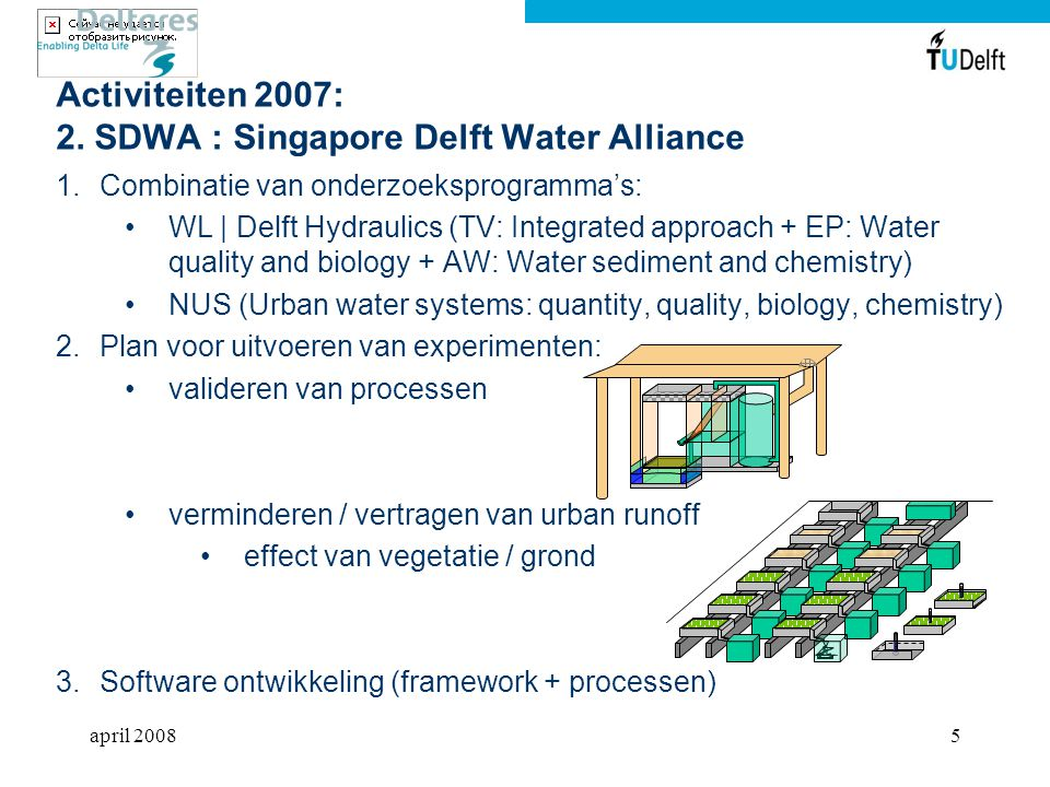 Activiteiten 2007: 2. SDWA : Singapore Delft Water Alliance