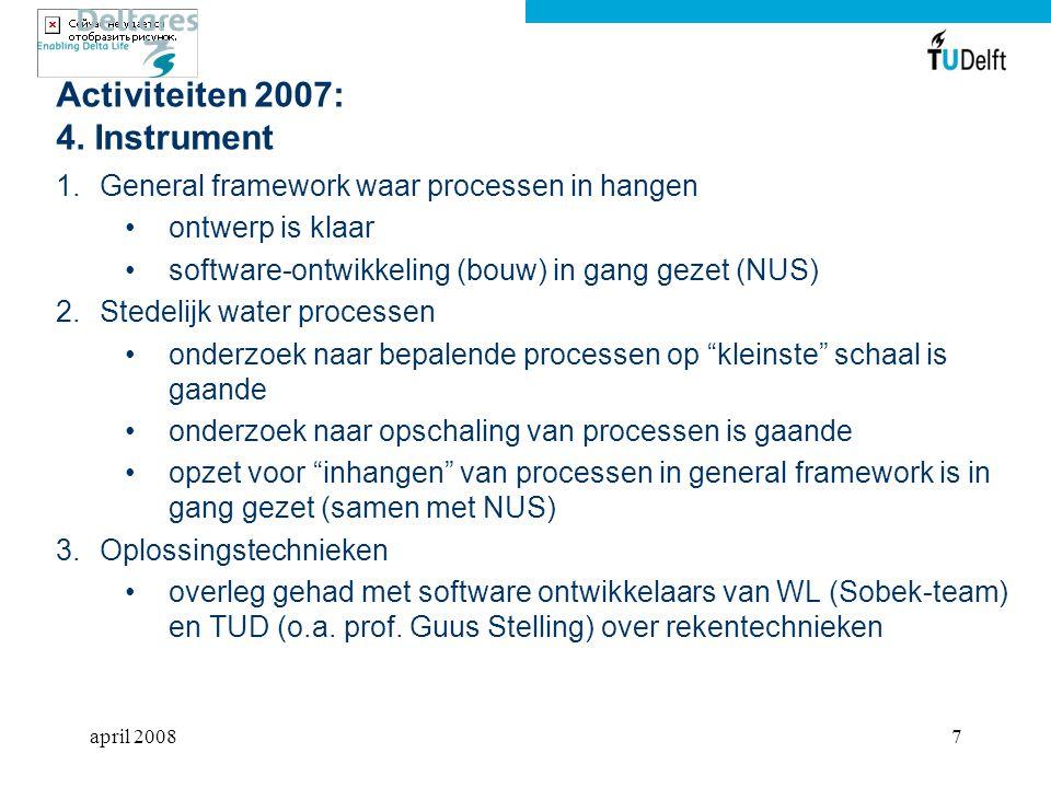 Activiteiten 2007: 4. Instrument