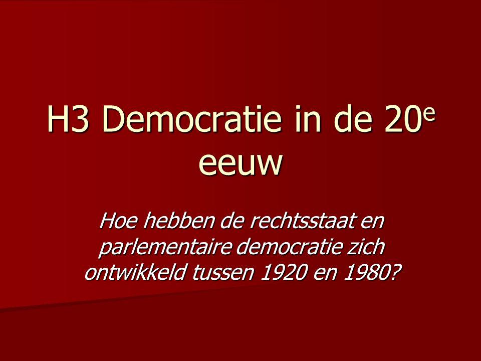 H3 Democratie in de 20e eeuw