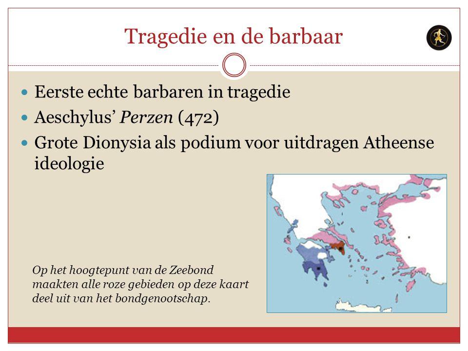 Tragedie en de barbaar Eerste echte barbaren in tragedie