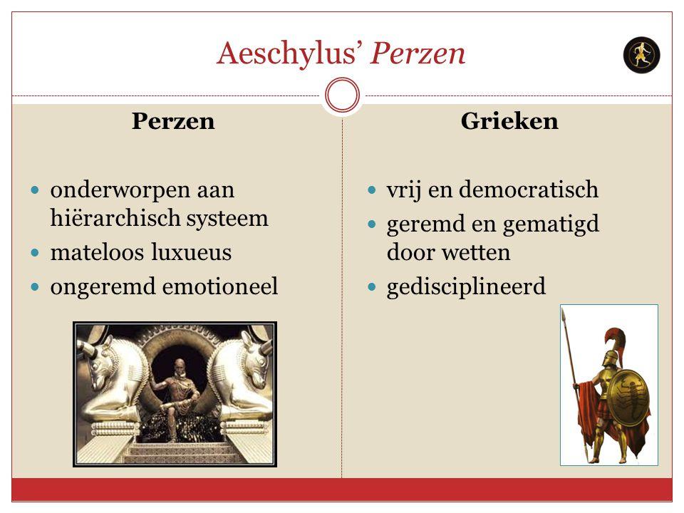 Aeschylus' Perzen Perzen onderworpen aan hiërarchisch systeem
