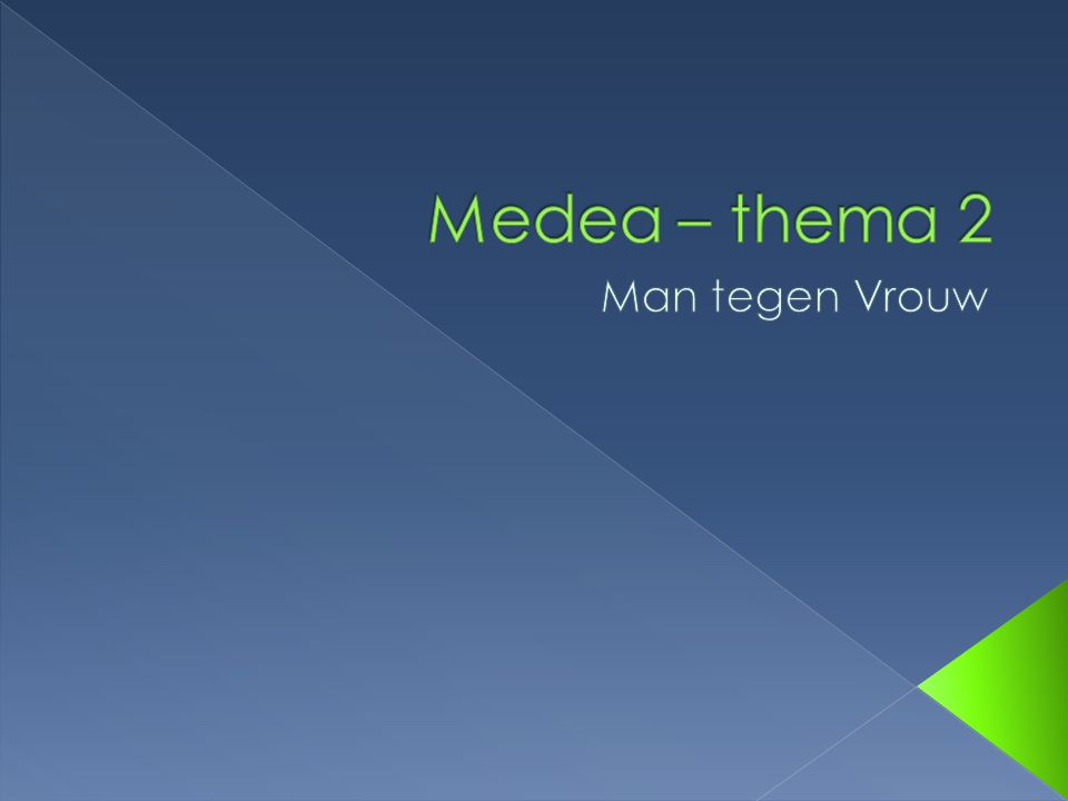 Medea – thema 2 Man tegen Vrouw